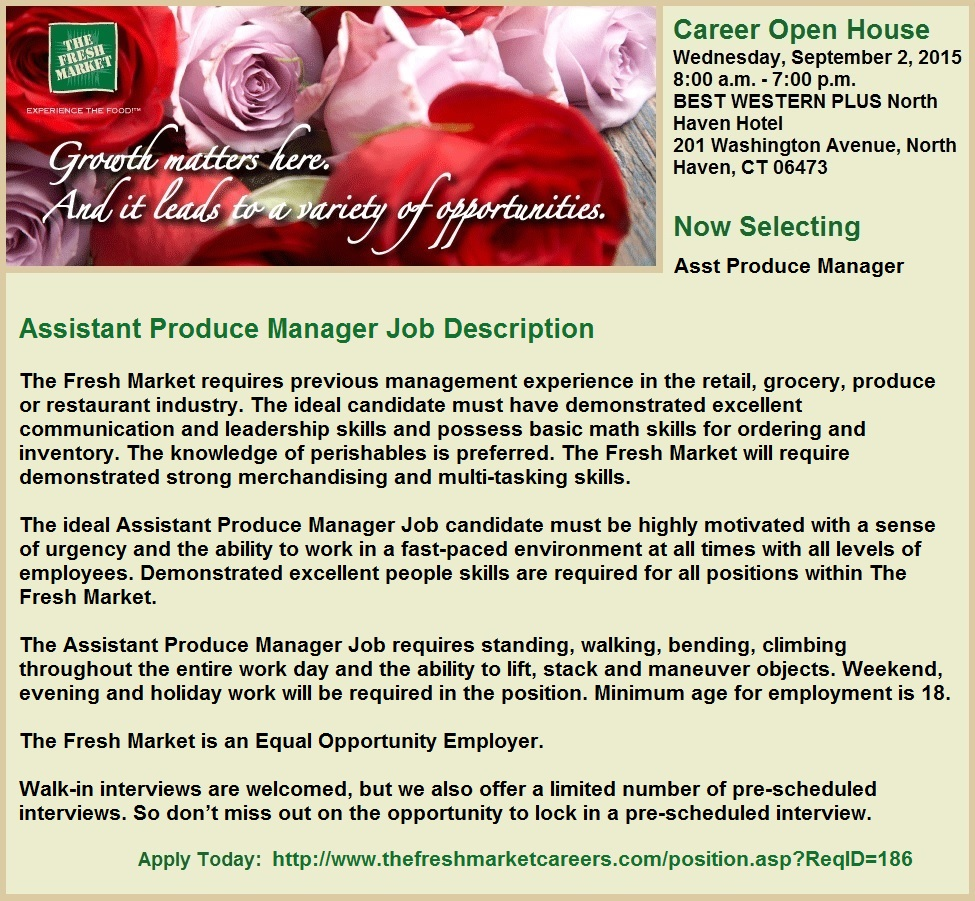 Connecticut Grocery Store Jobs At The Fresh Market Page 2